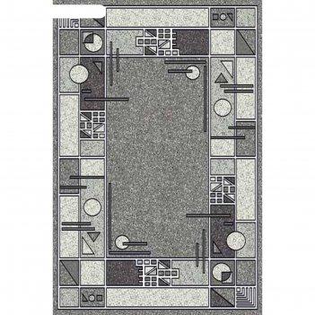 Прямоугольный ковёр silver albina 3, 100x200 см, цвет gray