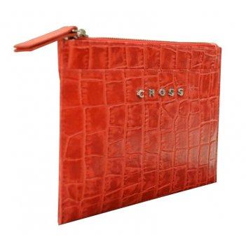Клатч мини cross bebe coco, кожа наппа фактурная, цвет красный/бежевый, 21