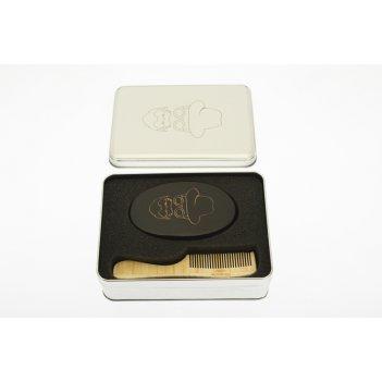 Набор co-007/1 расчесок для бороды и усов в алюминиевом кейсе
