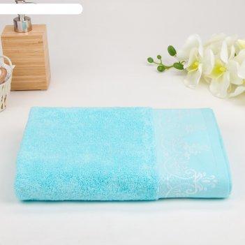 Полотенце махровое luxor тиана 01-027 50х90 см, лазурь, хлопок 100%, 450г/