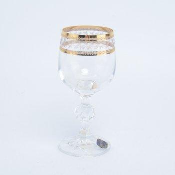 Набор рюмок для водки crystalex bohemia золотой лист v-d 90 мл(6 шт)