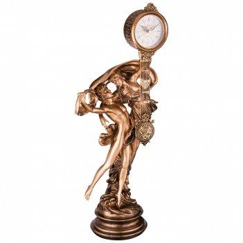 Часы настольные кварцевые 38*28*84 см. диаметр циферблата=10 см. (кор=3 шт