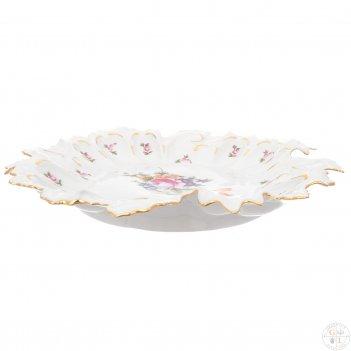 Блюдо фигурное круглое полевой цветок 35 см