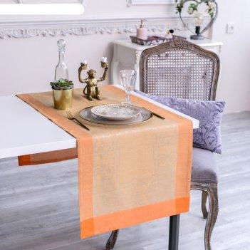 Дорожка на стол этель лён «жизель» 50x150 ± 3 см, 100% лён