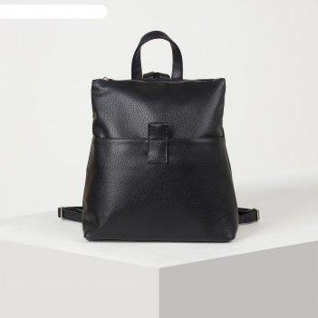 Рюкзак молод 1091, 29*11*31, отд на молнии, 2 н/кармана, черный
