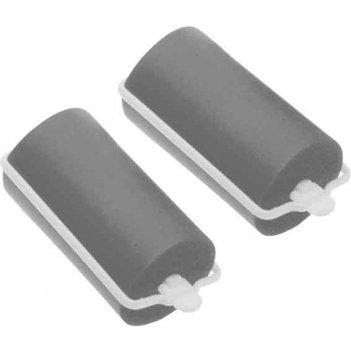 Бигуди резиновые  dewal beauty серые d 28ммx70мм(10шт/упак)