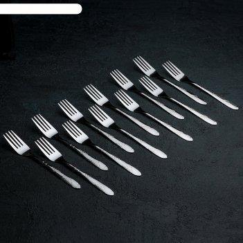 Набор вилок столовых «весна», h=18 см, 12 шт