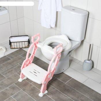 Сиденье на унитаз кошечка, цвет розовый