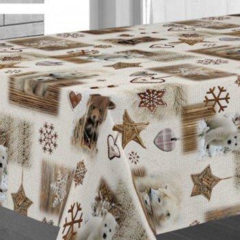 Клеенка столовая sale & pepe 140 см, рулон 20 п.м., зимняя сказка