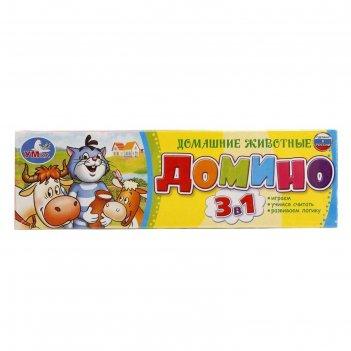 Домино «простоквашино. домашние животные», 3 в 1