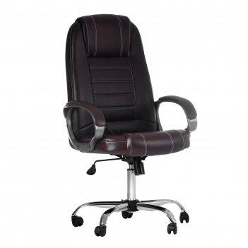 Кресло руководителя атлант, экокожа, коричневое мк-02