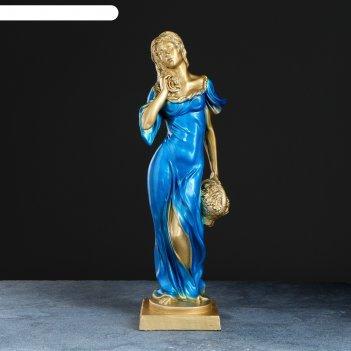 Статуэтка девушка с корзиной бронза