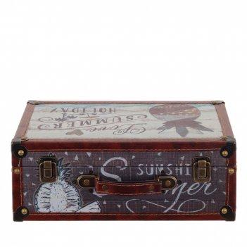 Шкатулка чемодан, l34 w13 h22 см