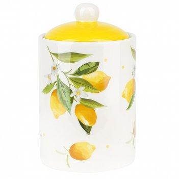 Банка для сыпучих продуктов лимоны d=10см. h=17см. v=750мл. (подарочная уп