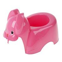 Горшок детский зайка  розовый   m 2594