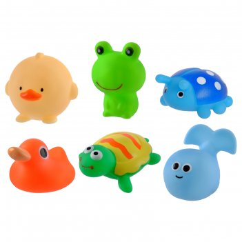 Набор игрушек для ванны «весёлые друзья», 6 шт.