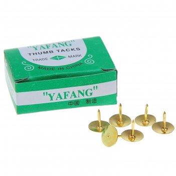 Кнопки 12 мм, золотистые, в картонной коробке, 50 шт.