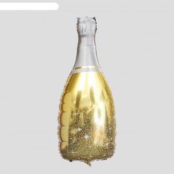 Шар фольгированный 40 бутылка шампанского, цвет золотой