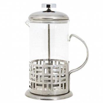Кофейник (френч-пресс) v=600мл. (3вида) (стекло, металл) (подарочная упако