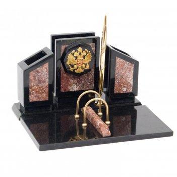 Настольный набор герб камень креноид