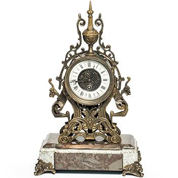 Часы из бронзы композиция время, 46х30х18см