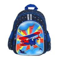 Рюкзак детский на молнии вертолёт, 1 отдел, 3 наружных кармана, синий