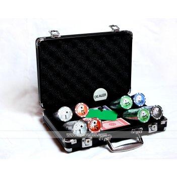 Покерный набор 200 фишек royal flush 12гр