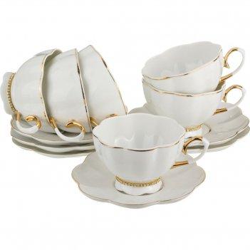Чайный набор на 6 персон 12 пр.рублевка 220 мл. ...