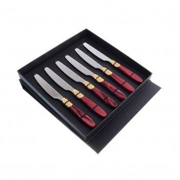 Набор столовых ножей domus victoria gold (6 шт)