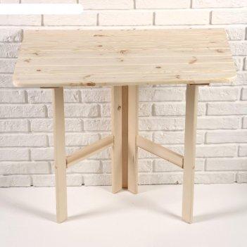 Стол пристенный, откидывающийся, квадрат, сосна деревянный