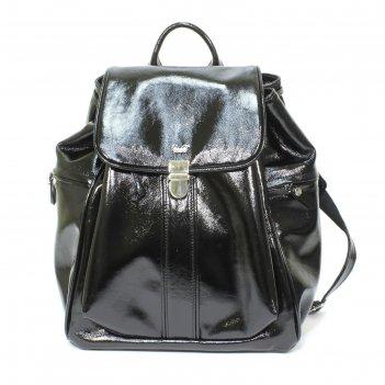 Рюкзак женский с одним отделение, с клапаном на застежке, цвет чёрный