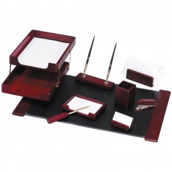 Набор настольный delucci, 9 предметов, цвет красное дерево