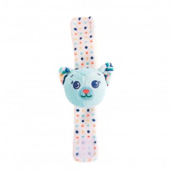 Игрушка-погремушка на ручку «котик дарси»