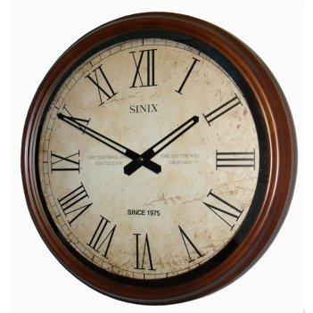 Настенные часы sinix 5082brn