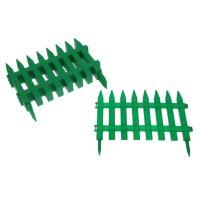 Забор декоративный, 300х28 см, пластик, цвет зелёный «частокол»
