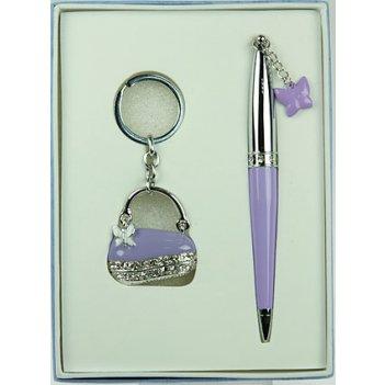 """Подарочный набор """"сумочка"""": ручка, брелок 17*12*3см"""