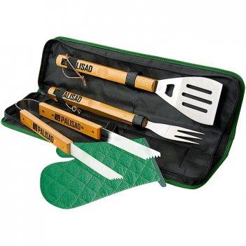 Набор приборов для барбекю, 4 предмета в сумке camping palisad