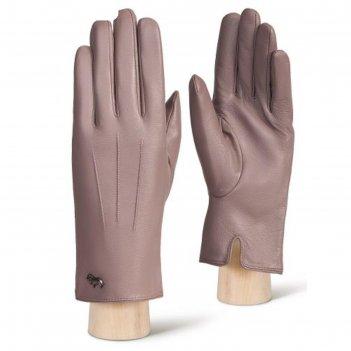 Перчатки женские ш/п lb-4607-1 цвет серо-розовый, размер 6.5