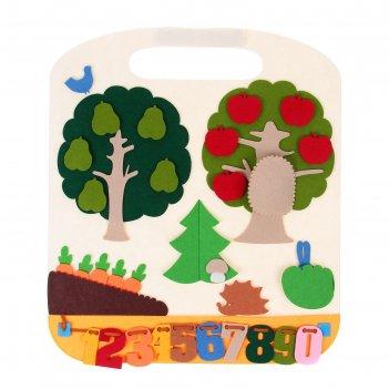 Коврик-игралка в дорогу лес, 42*48 см., фетр ф002