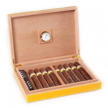 Хьюмидор на 20 сигар, aficionado (испания) желтого цвета