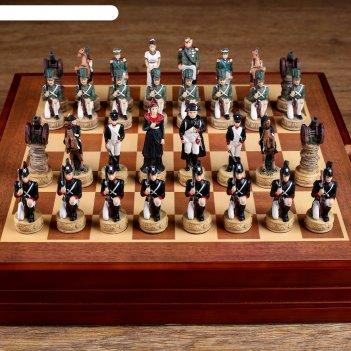 Шахматы сувенирные отечественная война (доска 36х36х6 см, король h=7.5 см,