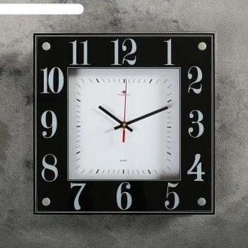 Часы настенные, серия: классика, черно-белая классика, 36х36 см микс