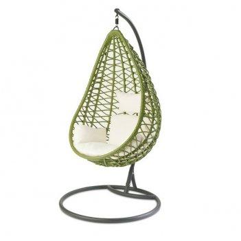Садовые качели кокон joygarden aura green, садовая мебель