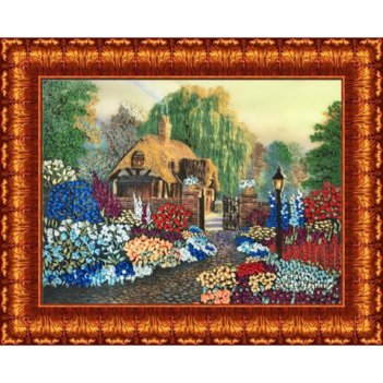 Набор для вышивания лентами «цветы у дома»