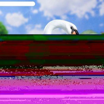 Садовая фигура лебедь новый белый/черный 37*25*40 см