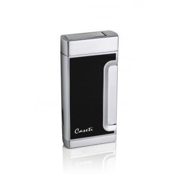 Зажигалка caseti газовая турбо, хромированное покрытие + черны