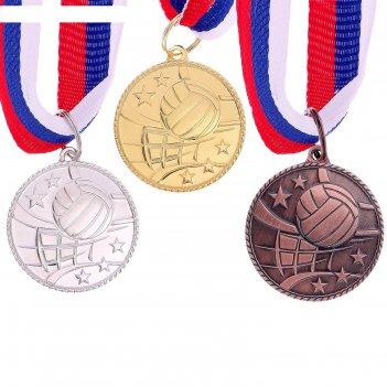 Медаль тематическая 124 волейбол бронза