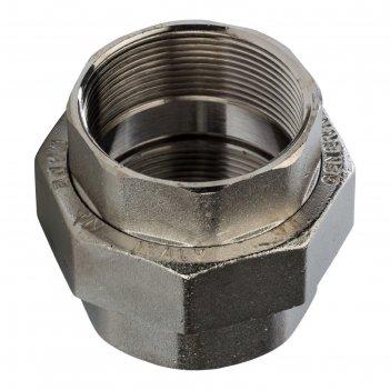 Разъемное соединение stout sft-0034-000002, никелированное, американка, вв