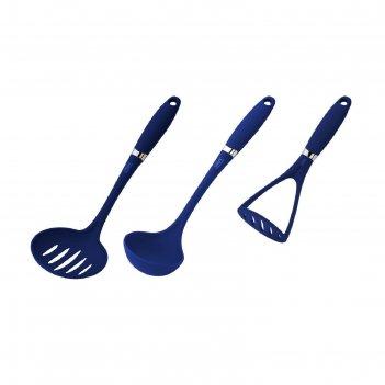 Набор кухонных принадлежностей calve, 3 предмета: половник, шумовка, карто