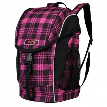 Ранец дошкольный target 35*24*12 square, розовый/чёрный